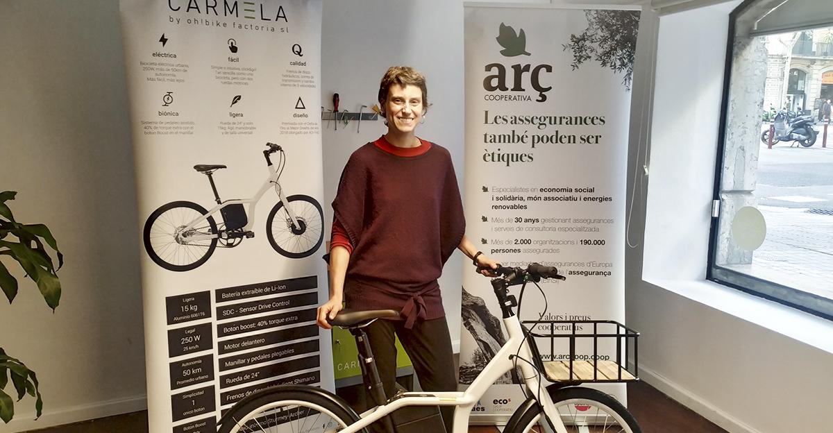 """Guanyadora del sorteig """"Bicicleta Carmela"""""""