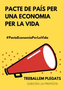 Pacte de país per una economia per la vida. #PActeEconomiaPerLaVida