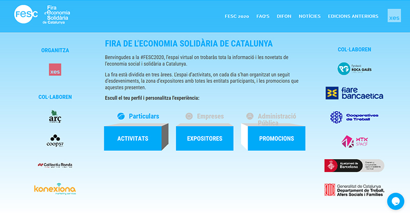 captura pantalla web fesc 2020