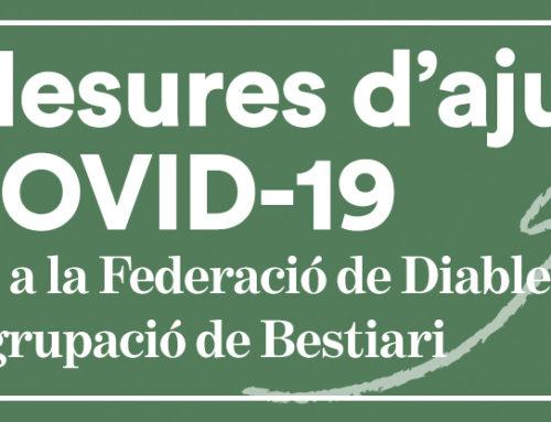 Mesures d'ajut COVID-19 per a la Federació de Diables i l'Agrupació del Bestiari